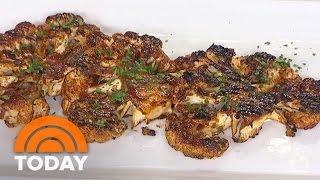Delicious Ways To Swap Meat For Veggies: Cauliflower BBQ Steak   #startTODAY   TODAY