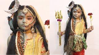 SHIV ARDHNARISHWAR MAKEUP TUTORIAL / 4 YEAR OLD BABY FANCY DRESS MAKEUP / INDIAN MYTHOLOGY
