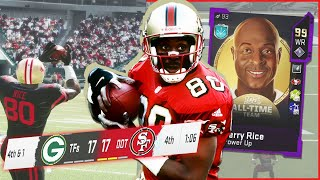 99 Jerry Rice Stepping Up BIG When We Need Him! (Madden 20)