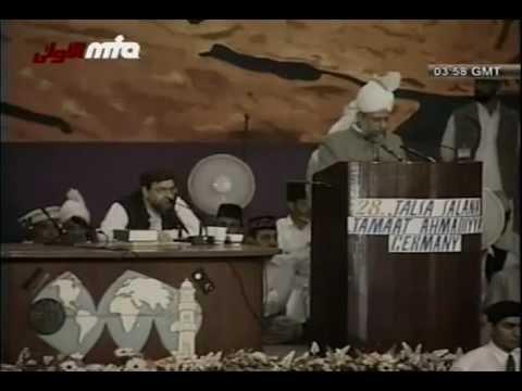 Ansprache des Kalifen (aba) an die Gäste der Jalsa Salana 2003