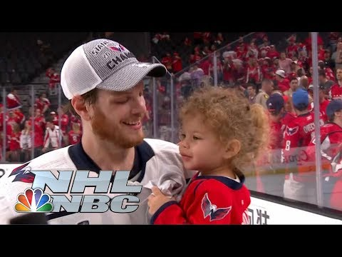 Stanley Cup Final: John Carlson's son Lucca steals spotlight in interview I NHL I NBC Sports