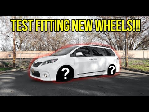 THE TOYOTA SIENNA GETS NEW WHEELS... #vanHUB