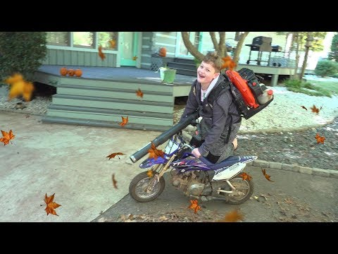 Doing his chores on a dirt bike. Will this work?