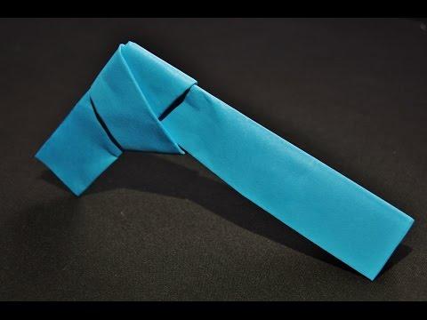 Easy paper gun origami