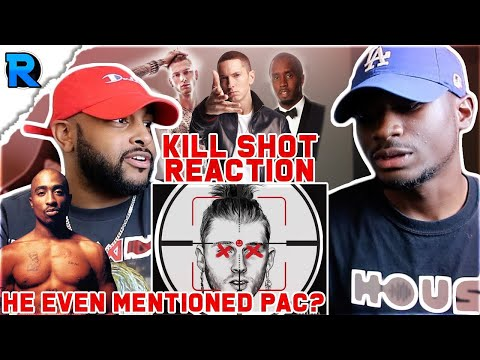 K!LLSHOT x EMINEM (MGK DISS) | HE MENTIONED THE DIDDY AND PAC SITUATION | REACTION