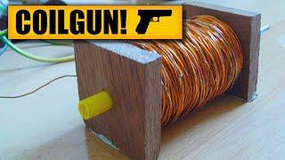 Coil gun : DIY Experiments #1 - Gauss rifle / homemade coil gun / DIY weapon / Electric gun
