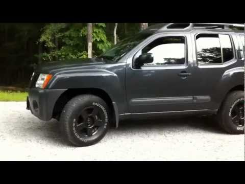 2005 4WD Xterra with plasti dip before and after (no longer looks ricey)