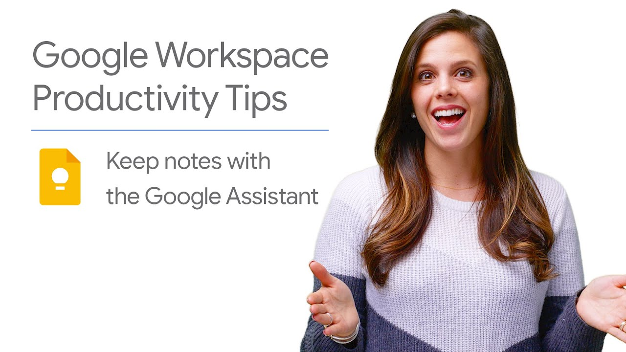In this episode of Google Workspace Productivity Tips, Laura Mae Martin shows you how to use Google Assistant on your mobile device - or Google Home - to add action items to your Google Keep notes in one easy step.