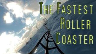 Fastest Roller Coaster floating on the water: 2D version