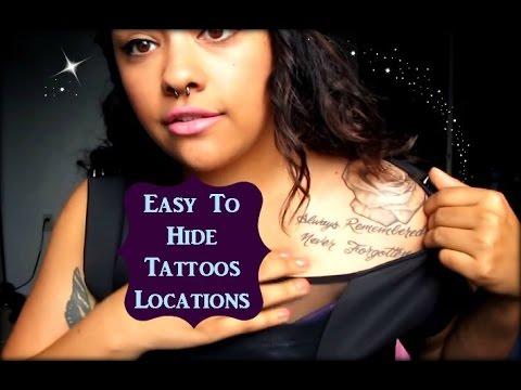 Video Tattoo Placements That Are Easy To Hide!
