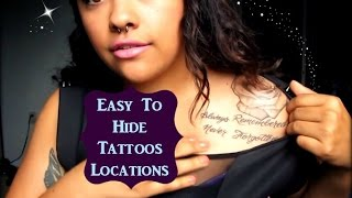 Tattoo Placements That Are Easy To Hide!