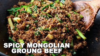Spicy Mongolian Ground Beef EASY Recipe