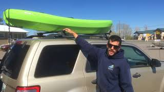 How to Properly Tie Down a Kayak to a Cartop Luggage Rack with Bars | Big Boys Toys | Bozeman, MT