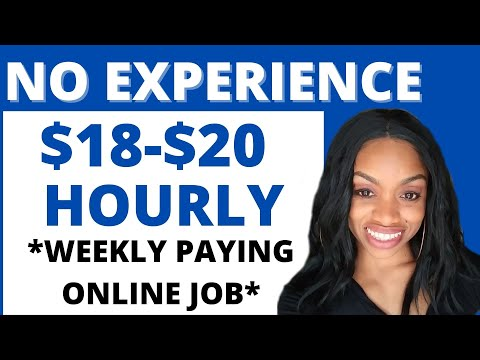 START ASAP $18-$20 Hourly Online Work From Home Job I Pays Every Week I *No Weekends*