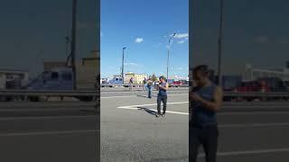 Рухнул пешеходник на Ярославке,Пушкино.