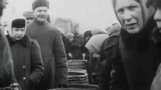 Грибной и рыбный рынок в Москве, 1908, кинохроника