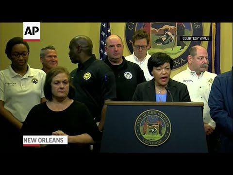 "The mayor of New Orleans says the city is ""beyond lucky"" after tropical storm Barry failed to cause significant flooding or damage in the city over the weekend. (July 14)"