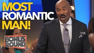 MOST ROMANTIC MAN DOES THIS EVERYDAY! Steve Harvey Asks The Question On Family Feud