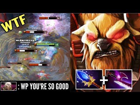 EPIC!! Carry Earthshaker Team Wipe Echo Slam vs PRO Invoker Crazy Comeback by Rajjix WTF Dota 2