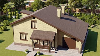 Проект дома 180-A, Площадь дома: 180 м2, Размер дома:  14,8x11,3 м