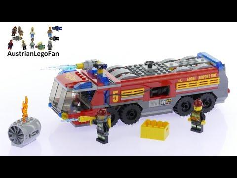 Vidéo LEGO City 60061 : Le camion de pompiers de l'aéroport