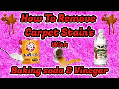 How to remove carpet stains with baking soda and vinegar