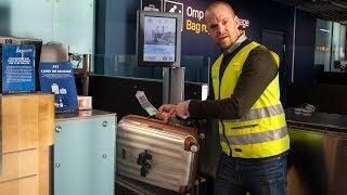 Vad händer med väskan på flygplatsen?
