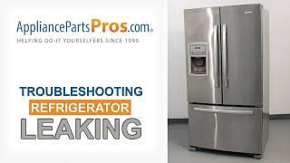 Refrigerator Leaking Water - Top 8 Reasons & Fixes - Kenmore, Whirlpool, Frigidaire, GE & more