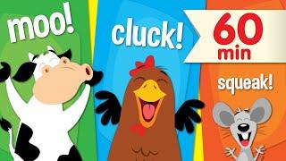 Песни со Звуками Животных | + Дополнительные Супер Простые песни для детей