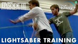 Hayden Christensen and Ewan McGregor Lightsaber Training