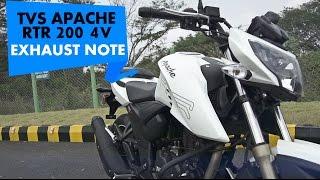 TVS Apache RTR 200 4V | Exhaust Note | PowerDrift