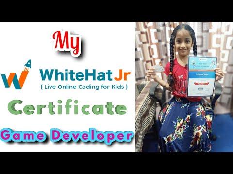 My WhiteHat Jr Game Developer Certificate - YouTube