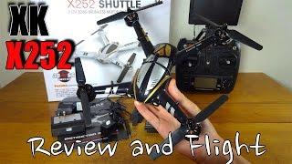 XK X252 Shuttle Review and Flight : Cheap 3D FPV Quadcopter