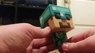 Minecraft Pop Games Steve In Diamond Armor Unboxing!