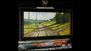 Country Road - Time Lapse Acrylic Painting - Farm Landscape - Tim Gagnon