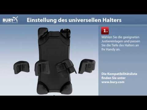Einstellung des BURY S8/S9 Universal Cradles DE