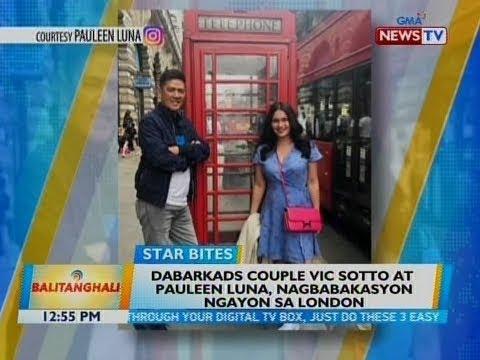 [GMA]  BT: Dabarkads couple Vic Sotto at Pauleen Luna, nagbabakasyon ngayon sa London