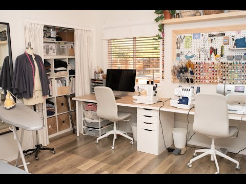 This is my sewing room! I create live video's and also allow hands on experience. Please come join me in the sewing studio.