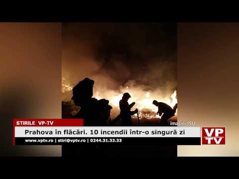 Prahova în flăcări. 10 incendii într-o singură zi