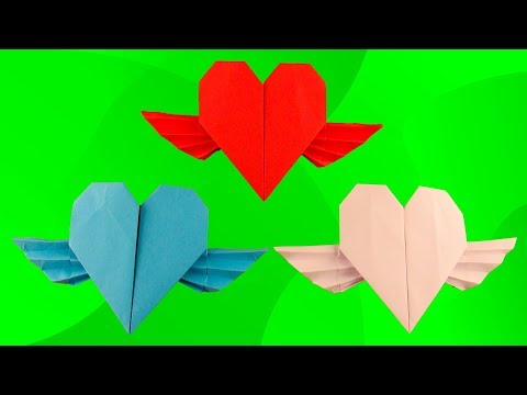 ОРИГАМИ Валентинка из бумаги ❤️ Как сделать сердце из бумаги а4 своими руками. Origami