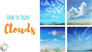 How To Paint Clouds | Acrylic Painting Tutorial