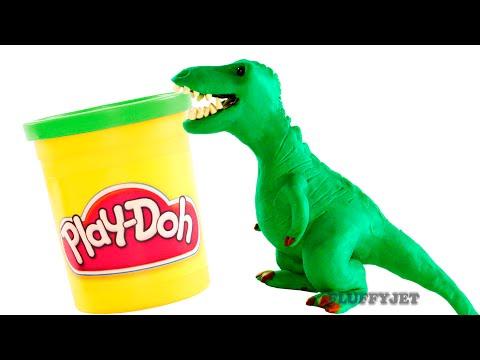 Dinosaurs Play doh Stop Motion T-Rex Dinosaur animation Tyrannosaurus Rex dinosaur toy eggs Jurassic letöltés