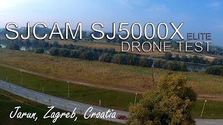 Sjcam SJ5000X elite test on drone, Zagreb, Jarun