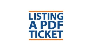 """How to List a PDF Ticket"" tutorial video for StubHub, 2014."