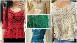 50+cute  And Aweasom Crochet Knitted  Lace Top Blouse Design For Spring Season2020/girls Fashion