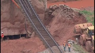 Rain washes away Santa Rosa area railroad track