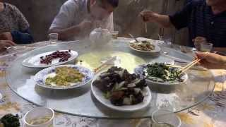 preview picture of video 'Aruna & Hari Sharma enjoying Vegetarian Lunch at Longevity Village, Wu'an Sep 10, 2013'