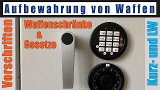 Waffen aufbewahren Waffenschränke Vorschriften Gesetze deutsch
