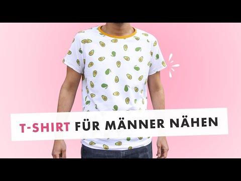 T-Shirt aus Jersey für Männer nähen - Schritt für Schritt Anleitung