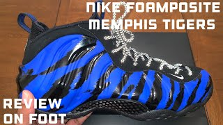 5998b591713 Nike Foamposite One Memphis Tigers aka Memphis Tiger Foams Unboxing. Detailed  Review   On Foot
